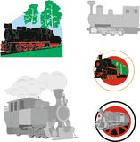 Oldfashioned railvay train pictures royalty free stock images