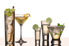 Five vodka cocktails Stock Image