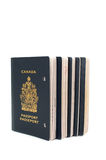 Five void passports. On white background Royalty Free Stock Photo