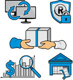 Five website icons Stock Images