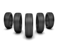Five wheels Stock Photography