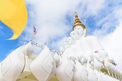 Five white Buddha image. Five white Buddha image in Phetchabun, Thailand Royalty Free Stock Image