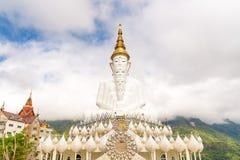 Five white Buddha image. Five white Buddha image in Phetchabun, Thailand Royalty Free Stock Photos