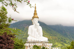 Five white Buddha image. Five white Buddha image in Phetchabun, Thailand Stock Photos