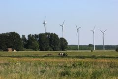 Five Wind Mills Stock Image
