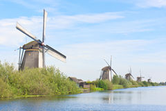 Five Windmills in row Royalty Free Stock Photos