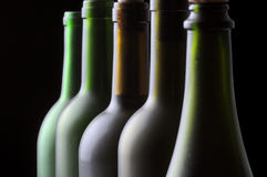 Five Wine Bottles Stock Images