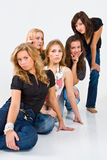 Five women posing royalty free stock photo