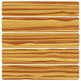 Five wooden boards. Vector abstract wood texture in flat design vector illustration