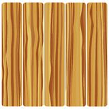 Five wooden boards. Vector abstract wood texture in flat design. n royalty free illustration