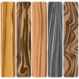 Five wooden boards. Vector abstract wood texture in flat design. n vector illustration