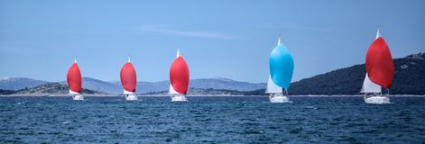 Five yachts Royalty Free Stock Image