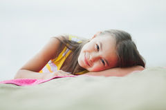 Five-year-old girl on the nature Royalty Free Stock Photography