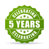Five years anniversary celebrating icon. Five years anniversary celebrating vector icon Stock Photo