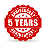 Five years anniversary celebration vector icon. Illustration Royalty Free Stock Image