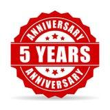 Five years anniversary celebration vector icon. Illustration stock illustration