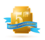 Five years anniversary shield. illustration Stock Photography
