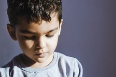 Five years old boy stock image