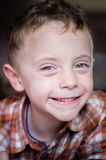 Five years old boy smiling. A portrair of five eyars old boy smiling and happy Stock Photos