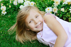 Five years old girl Stock Photos