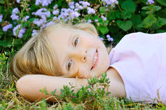 Five years old girl Stock Image