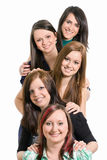 Five young girl Stock Photography