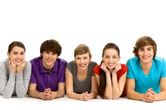 Five young people Royalty Free Stock Photos