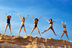 Five young women Royalty Free Stock Photos