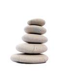 Five Zen stones Stock Photo