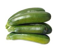 Five zucchini Royalty Free Stock Photos