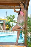 Fiveteen years sesion. Model pool day Royalty Free Stock Images