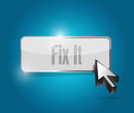 Fix it button illustration design Royalty Free Stock Images