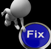 Fix Button Means Repair Mend Or Restore Royalty Free Stock Photo