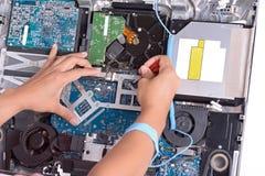 Fix dirty computer Stock Photos