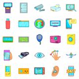Fix the electronics icons set, cartoon style. Fix the electronics icons set. Cartoon set of 25 fix the electronics vector icons for web isolated on white royalty free illustration