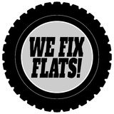 We Fix Flat Tires Royalty Free Stock Photo
