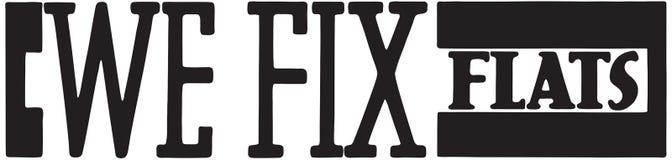 We Fix Flats. Retro Ad Art Banner vector illustration
