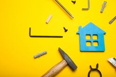 Fix, house maintenance, property architecture royalty free stock images