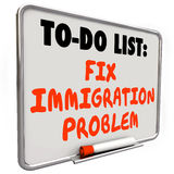Fix Immigration Problem Dry Erase Board To Do List Stock Photo