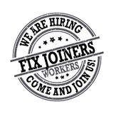 Fix joiners - we are hiring Royalty Free Stock Photo