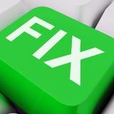 Fix Key Shows Repairing Fixing Or Mending Royalty Free Stock Image