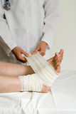 Fix my foot royalty free stock image