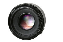 Fix photo lens. Photo lens with umbrella reflection Stock Photos