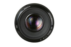 Fix photo lens. With umbrella reflection Royalty Free Stock Photo