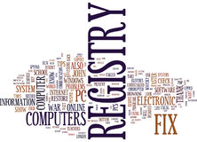 Fix Registry Problems On Your Own Word Cloud Concept Royalty Free Stock Images