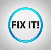 Fix It! Round Blue Push Button royalty free illustration