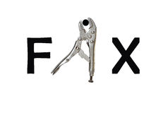 Fix by tool character Stock Images