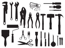 Fix and tools black and white Stock Photography