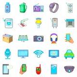 Fix up icons set, cartoon style. Fix up icons set. Cartoon set of 25 fix up vector icons for web isolated on white background Royalty Free Stock Photography