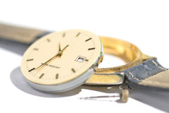 Fix watch. Details of watches and mechanisms for reparation, restoration and maintenance Stock Photography